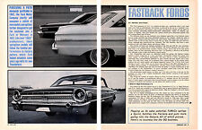 1963 FASTBACK FORDS / FALCON & GALAXIE ~ ORIGINAL 6-PAGE ARTICLE / AD