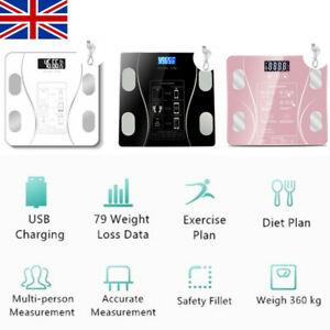 Bathroom Weighing Digital Scales Bluetooth Smart Body Fat BMI Glass 180KG