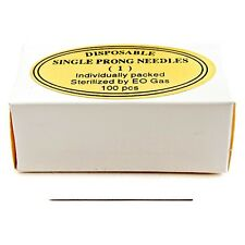 1 PRONG ROUND NEEDLES Sterile & Disposable 100 PCS/box by KP Permanent Makeup
