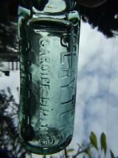 CODD MARBLE BOTTLE GREEN GLASS  EMBOSSED CLAYTON'S - CARDIFF LIMITED 1900's RARE