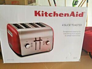 KitchenAid KMT4115ER Red Color 4 Slice Toaster Brand New Sealed
