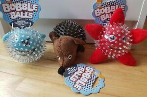Good Boy - Starfish, Shark and Hedgehog Bobble Balls - Puppy / Dog Toy