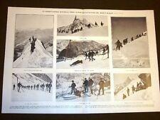 Esercitazioni Alpini sul Monte Bianco nel 1908 + Lisbona Funerale di Don Carlos