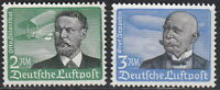 Stamp Germany Mi 538-9x Sc C55-6 1934 3rd Reich Airmail Lillenthal Zeppelin MNH
