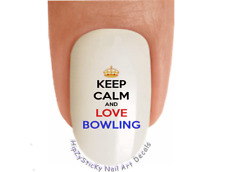Nail Art #326 SPORTS Keep Calm Love Bowling WaterSlide Nail Decals Transfers