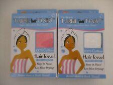 2 PACK TURBIE TWIST SUPER ABSORBENT COTTON HAIR TOWEL - NEW - EL 619