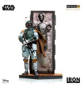 Iron Studios  Star Wars - Boba Fett & Han Solo in Carbonite - BDS Art Scale