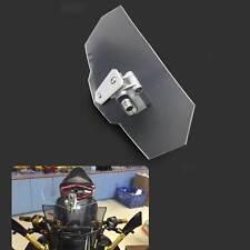 Motorcycle Windshield Windscreen Wind Screen Deflector Clip-on Clear Universal