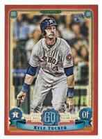 2019 Topps Gypsy Queen Red Border Parallel 05/10 KYLE TUCKER Astros RC #225