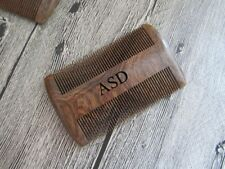 Sandalwood Personalized Comb Engraved wood comb Beard Comb Hair Comb mens gift