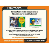 2020 TOPPS ARCHIVES BASEBALL FACTORY SEALED HOBBY BOX IN STOCK FREE SHIPPING