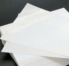 12 A4 White Edible Wafer Paper Sheets Baking Cupcakes, Macaroons etc
