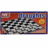 NEW TRADITIONAL DRAUGHTS BOARD GAME FAMILY FUN KIDS SET CLASSIC CHESS TRAVEL