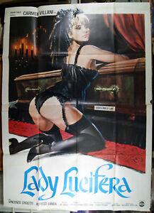 manifesto 4F film LADY LUCIFERA Carmen Villani José Ramon Larraz 1979