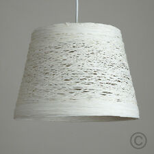 Modern White Wicker Twine Ceiling Pendant Light Shade Basket Design Lighting