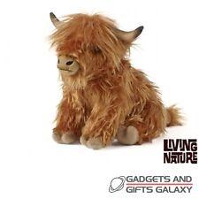 Grande peluche highland vache assise 23cm de haut & moos! jouet cadeau teddy enfant kids