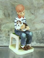 """New ListingVintage Norman Rockwell Saturday Evening Post """"At the Vets"""" Bone China Figurine"""