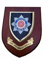 Lancashire Fire and Rescue Service Wall Plaque Shield