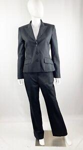 Anne Klein Charcoal Gray Pant Suit Sz 6 Wool Blend Business