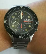 sinn 156B chronograph lemania 5100 military, braccialato, serviced !!