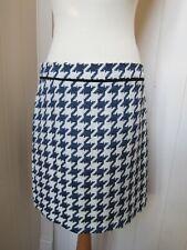 MARELLA blue/winter white dogtooth check skirt - BNWT - UK14