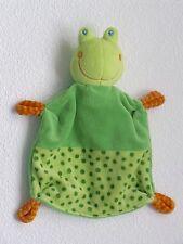 Baby Club C&A grüner Frosch FROG grün als Schmusetuch Schnuffeltuch  Neuwertig *