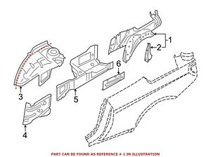 For BMW Genuine Wheel Housing Side Panel Rear Left Outer 41217263793