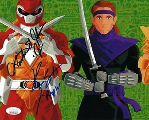 Power Rangers / TMNT- Austin St. John & Kenn Scott signed 8x10 photo JSA COA