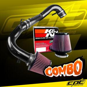 For 07-10 Scion tC 2.4L Black Cold Air Intake + K&N Air Filter