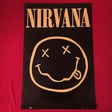 licensed Nirvana poster-Smiley Face Logo-print Uk-kurt cobain-24x36-New