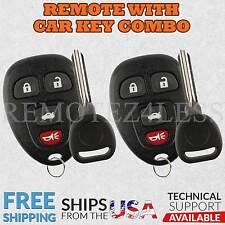 for Buick Chevy Pontiac Saturn Keyless Remote Car Key Fob 4btn b111-pt Pair