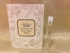 NEW! TOCCA Liliana EAU DE PARFUM Sample/Travel Glass Vial Perfume .05oz/1.5ml