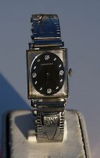 VINTAGE MENS LONGINES WRISTWATCH WITH DIAMOND DIAL