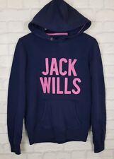 WOMENS JACK WILLS RETRO HOODIE SWEATER SWEATSHIRT SPORT ATHLETIC URBAN UK 10