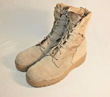 McRae Mens Boots Tan Military Suede Army Combat Footwear Size 10R