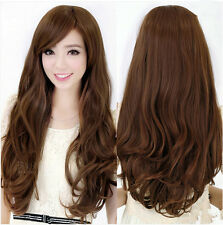 Fashion Women Fashion Long Wavy Curly Hair Cosplay Costume Party Full Wig / Wigs