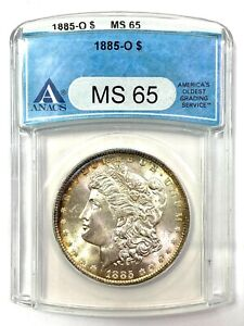 1885-O Morgan Silver Dollar - ANACS MS65