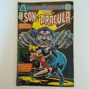 Fright Featuring  the Son of Dracula  #1 ATLAS COMICS  Origin Issue 1975 Comic