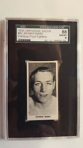 1938 CARTLEDGE  RAZOR # 42 JOHNNY WARD 88 NM/MT 8 SGC FAMOUS PRIZE FIGHTERS