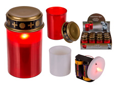 Led Grave Light - Red Warm White Candle Cemetery Grave