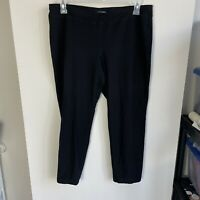 Eileen Fisher Women's Large Black Stretch Pull On Skinny Stretch Knit Pants