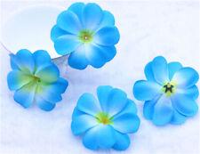 Plumeria 20P Blue Artificial silk/cloth flower heads Hawallan Lei Crafts Decor