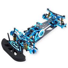 Blue 1:10 4WD Drift Alloy Carbon Fiber RC Racing Car Drive Shft Frame Kit RC Car