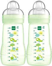 2 Biberon Easy Active 270ml Confezione Doppia Verde Flusso 1 MAM 99957420 No BPA