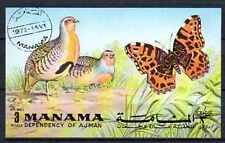 Papillons Manama (18) bloc oblitéré