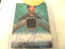STARGATE ATLANTIS  SEASONS  3&4  TRADING CARD  COSTUME MATERIAL & Autograph