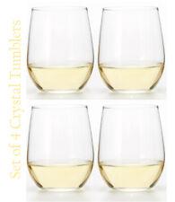 Riedel Bravissimo 4 Piece Tumbler Stemless Wine Glass Crystal Chardonnay Pinot
