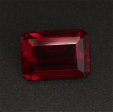 AAAA+ PIGEON BLOOD RED RUBY 6X8MM UNHEATED NOBLE CHAMFER RECTANGLE CUT LOOSE GEM