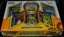 Pikachu EX Box Red & Blue Collection Pokemon Trading Cards 4 Booster Packs NEW