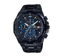 EFR-539BK-1A2 Black Blue Casio Edifice Men's Watches New Model 100M Steel Band